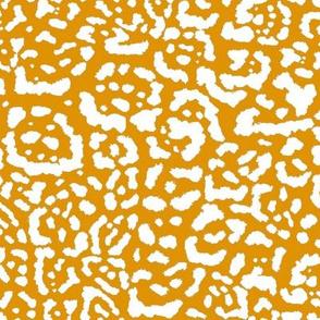 Jaguar Print White On Gold