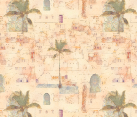 moroccan impression  fabric by dessineo on Spoonflower - custom fabric