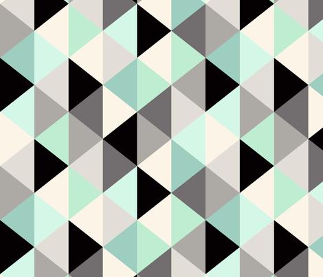 Triangle Geometric Pattern_Mint - rotate fabric by crystal_walen on Spoonflower - custom fabric