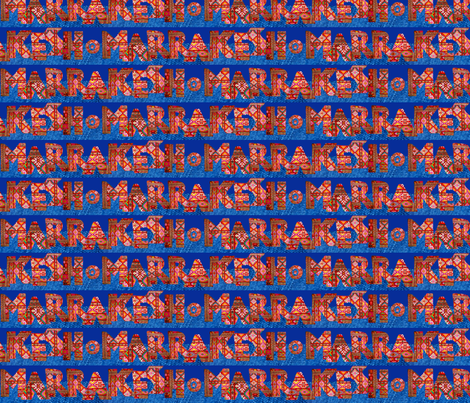 """colorful rug letters spell """"Marrakesh"""" fabric by jerseymurmurs on Spoonflower - custom fabric"""