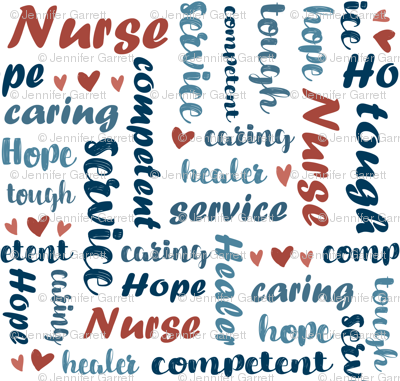 Qualities of a Nurse Typography
