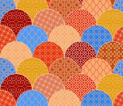 Colors and patterns of Marrakesh fabric by freevam on Spoonflower - custom fabric