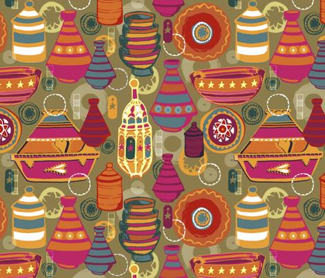 Tagine Dreams fabric by slumbermonkey on Spoonflower - custom fabric