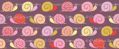 snails on parade - pink - bigger