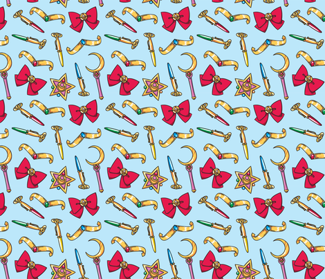 Sailor Moon Transformation fabric by electrogiraffe on Spoonflower - custom fabric