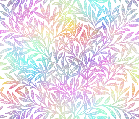 Willow ~ Opalescent on White ~  William Morris   fabric by peacoquettedesigns on Spoonflower - custom fabric