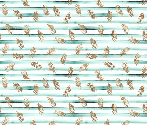 Rose_gold_pineapples-mint_stripe_shop_preview