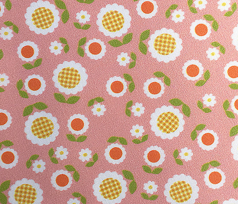 Gingham Flowers* (Mini Mona) || daisy flower 70s retro 1970s groovy vintage leaves floral mod coral mustard gold orange