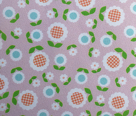 Gingham Flowers* (Mini Capote) || daisy flower 70s retro 1970s groovy vintage leaves floral mod pastel pink blush
