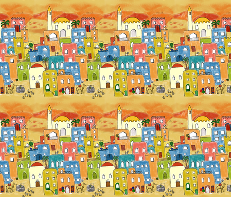 From old to modern Marrakesh fabric by cailitin on Spoonflower - custom fabric