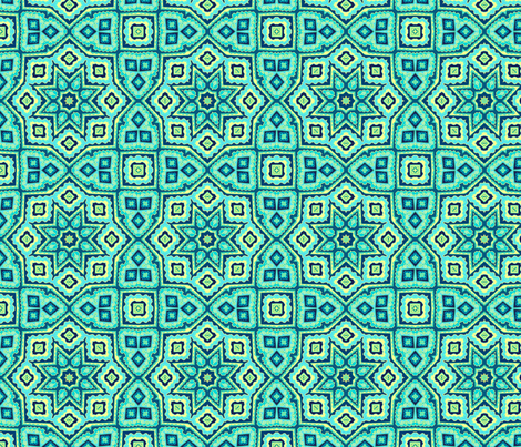Oriental mosaic fabric by dariara on Spoonflower - custom fabric