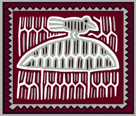 Folk Art Dinner Napkins fabric by vagabond_folk_art on Spoonflower - custom fabric