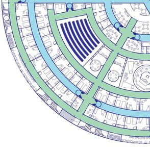 Deck Plan Blueprint with Fill