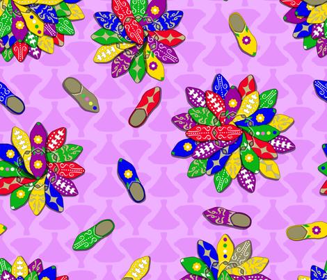 marrakesh market shoe flowers fabric by b0rwear on Spoonflower - custom fabric