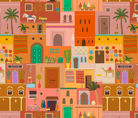 Marrakesh fabric by dasbrooklyn on Spoonflower - custom fabric