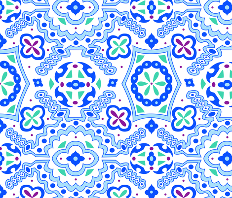 Marrakesh print fabric by vintage_style on Spoonflower - custom fabric