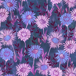 Gillie Floral slate and purple