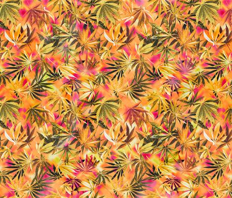 Orange 420 Sunshine fabric by camomoto on Spoonflower - custom fabric