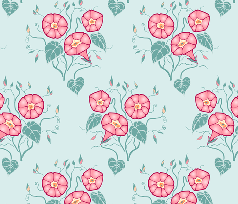 Morning Glory- Large fabric by katie_hayes on Spoonflower - custom fabric