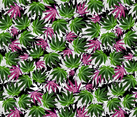 Sativa/Indica Wow fabric by camomoto on Spoonflower - custom fabric