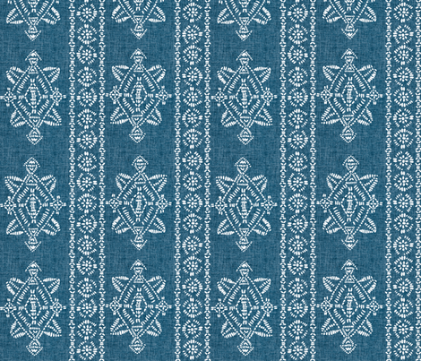 reeve repeat teal blue  linen fabric by schatzibrown on Spoonflower - custom fabric