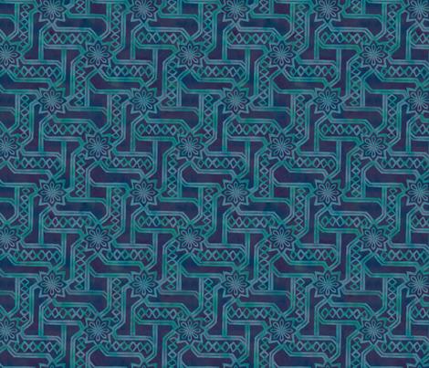 Marrakesh Maze -Watercolor fabric by fernlesliestudio on Spoonflower - custom fabric
