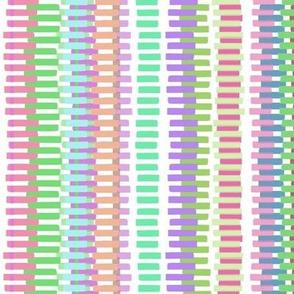 Boardwalk Stripes Pastel on White 300