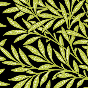 Willow ~ Black and White and Usurper III  ~ William Morris