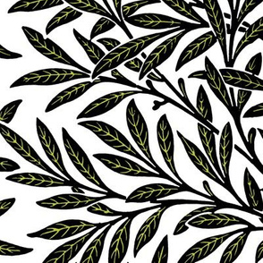 Willow ~ Black and White and Usurper reverse ~ William Morris