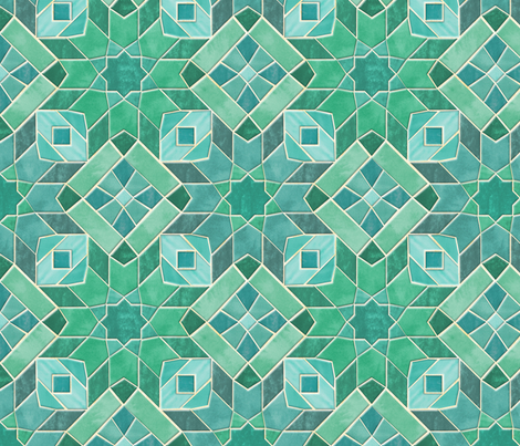 Marrakesh-Teal-Tiles fabric by artfully_minded on Spoonflower - custom fabric