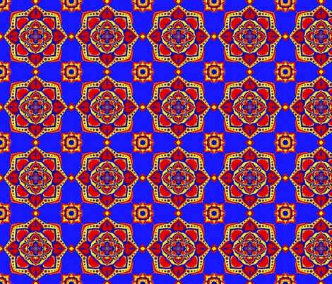 Moroccan Tile fabric by thecraftydragon on Spoonflower - custom fabric