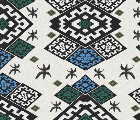 Amazigh Symbols  fabric by iadesigns on Spoonflower - custom fabric