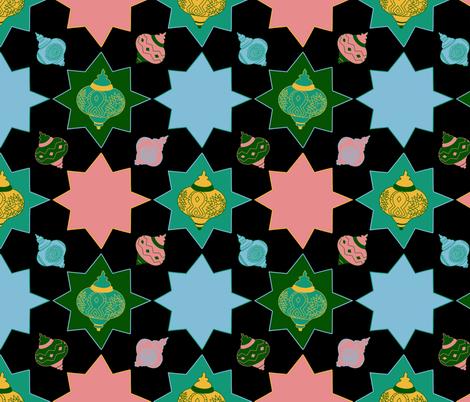 Lanterns fabric by sidesignloft on Spoonflower - custom fabric