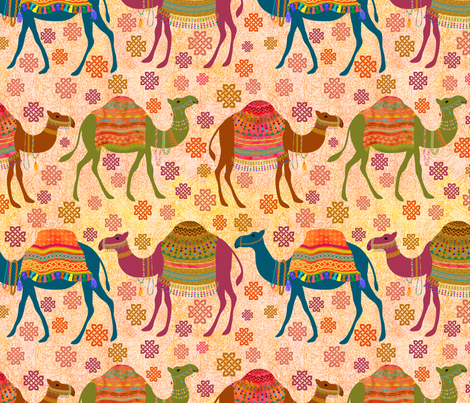 Marrakesh Camel Tours!  fabric by vo_aka_virginiao on Spoonflower - custom fabric