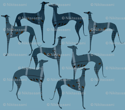 """""""poets and philosophers"""",   blue greyhounds"""