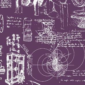 Da Vinci's Sketchbook // Finn Violet // Large