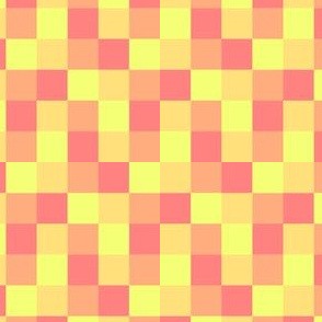 Pink and yellow plaid
