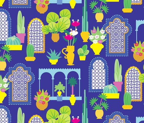 MAJORELLE GARDEN fabric by lisahilda on Spoonflower - custom fabric