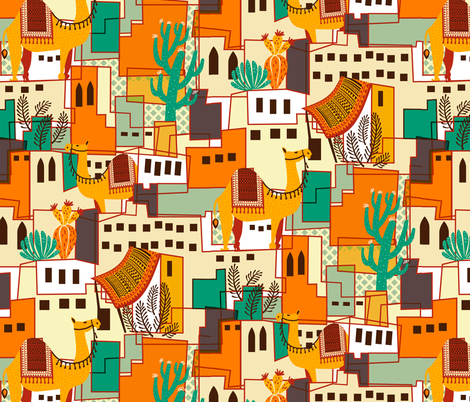 Marrakesh Spring fabric by meliszawang on Spoonflower - custom fabric
