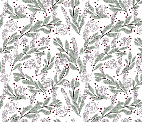 Warm Holiday Hearth fabric by little_luck_designs on Spoonflower - custom fabric