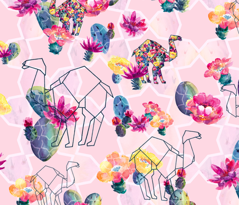 Through the Desert fabric by gingerlique on Spoonflower - custom fabric