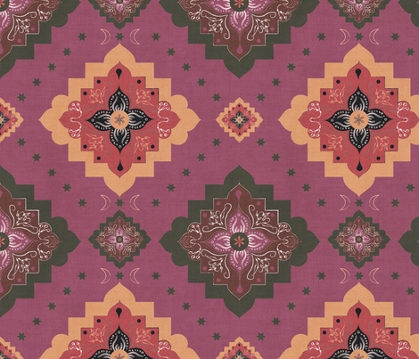 Marrakech at dusk fabric by mabouk on Spoonflower - custom fabric
