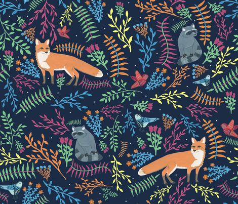 night forest fabric by anna_jornet on Spoonflower - custom fabric