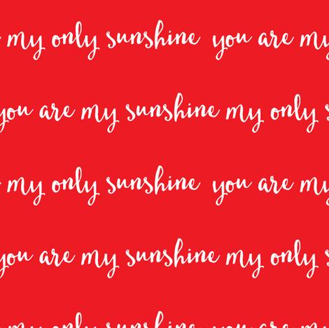 Sunshine - red fabric by littlearrowdesign on Spoonflower - custom fabric