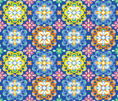 Marrakesh Tile  fabric by oliveandruby on Spoonflower - custom fabric
