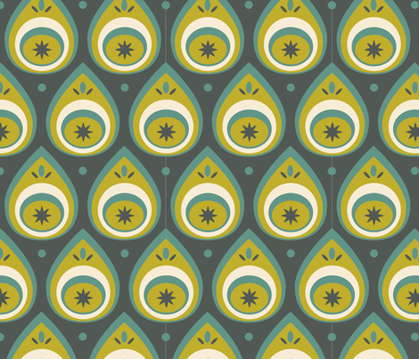 Green Drops fabric by augenschmaus on Spoonflower - custom fabric