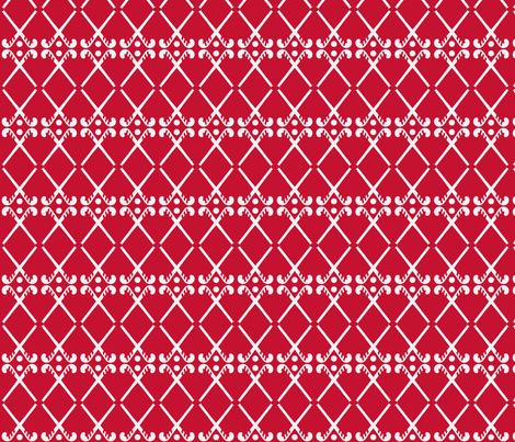 Hockey Sticks red fabric by manjula on Spoonflower - custom fabric