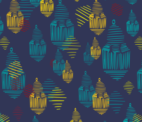 Lanterns from Morocco fabric by maredesigns on Spoonflower - custom fabric