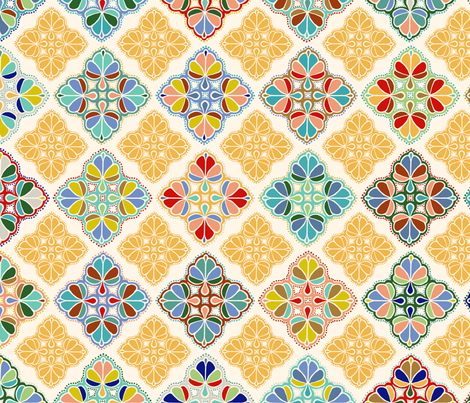 A Sunny Day in Marrakesh fabric by patterista on Spoonflower - custom fabric