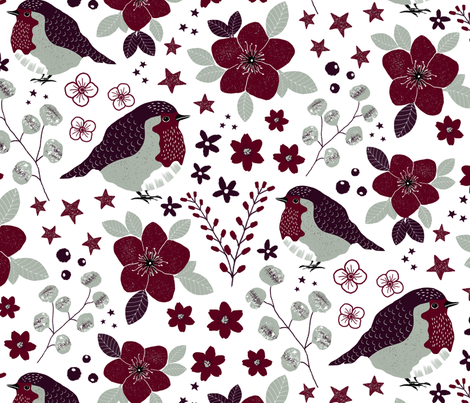 limited holiday palette pattern-repeat fabric by marije_verkerk on Spoonflower - custom fabric